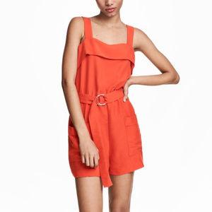 H&M Orange Romper Size 8